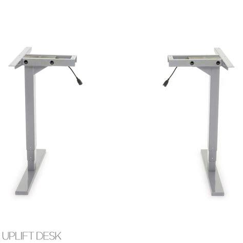height adjustable desk base shop uplift 925 space saver height adjustable standing desk bases