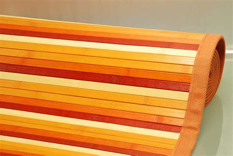 tappeto in bambu tappeto bamb 217 degrade arancione 60x100