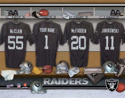 raiders locker room nfl team locker room print personalization king personalized photo gifts personalized photo