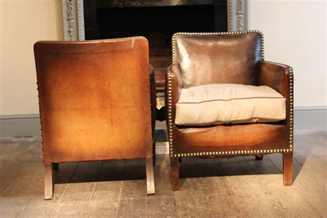 Small Leather Armchair Uk by Wonderful Pair Of Small 1920s Studded Leather