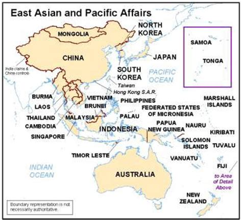 asia pacific map with country names east asian and pacific affairs countries and other areas