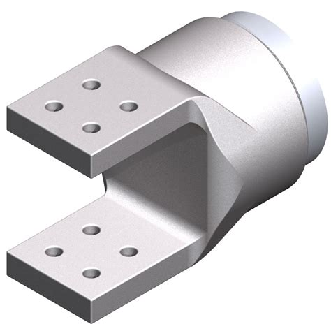 Busbar Grounding Plate Alumunium 300x100x8mm Welded Terminal Connectors 230 Kv Or Less Aluminum Welded