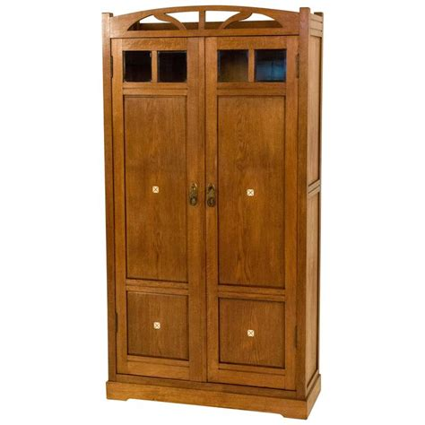 arts and crafts armoire arts and crafts dutch armoire with inlay 1900s for sale at 1stdibs