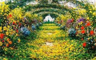 Paintings Of Flower Gardens Flower Garden Paintings Wallpaper