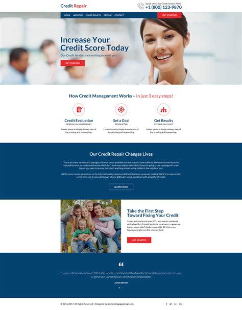 Professional Credit Repair Resp Website 03 Credit Repair Responsive Website Template Preview Professional Responsive Website Templates