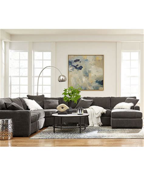 macys radley sectional radley fabric sectional sofa living room furniture