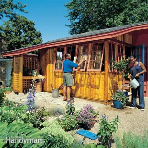 build backyard shed how to build a garden shed addition family handyman