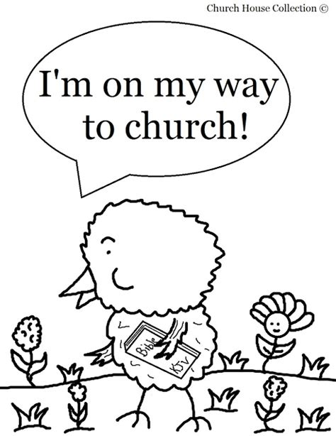 halloween coloring pages for sunday school church house collection blog easter chick coloring page