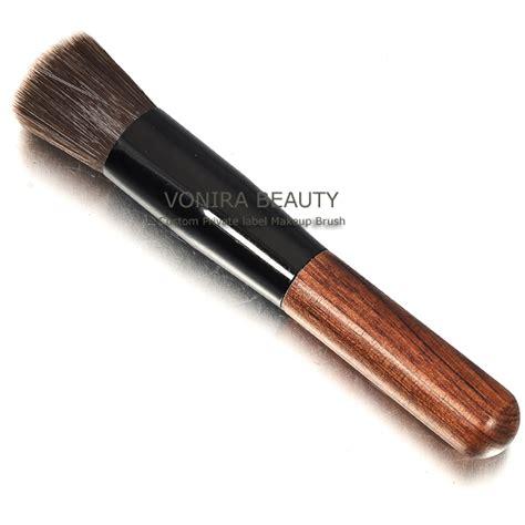 Flat Foundation Brush synthetic flat top foundation brush wooden brush