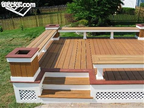 built in deck benches built in deck benches ideas this low maintenance bench