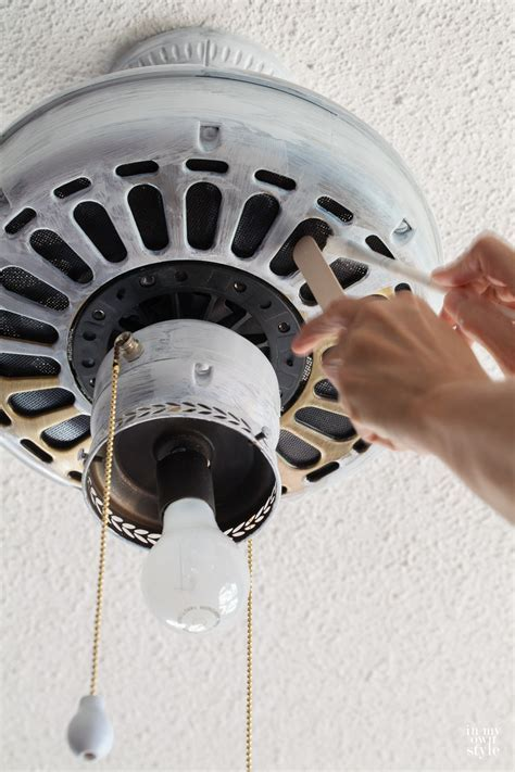 How to Paint a Ceiling Fan Without Taking It Down   In My