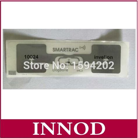 athletic timing system passive iso18000 6c uhf dogbone rfid printed tag labels antenna impinj