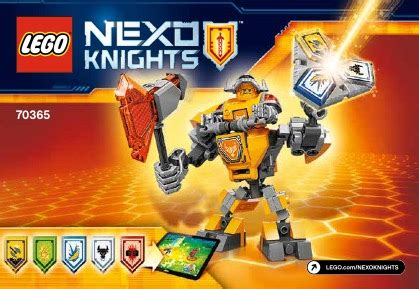 Lego 70365 Nexo Knights Battle Suit Axl lego battle suit axl 70365 nexo knights