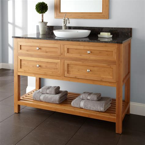 thayer bamboo vanity  undermount sink bathroom vanities bathroom