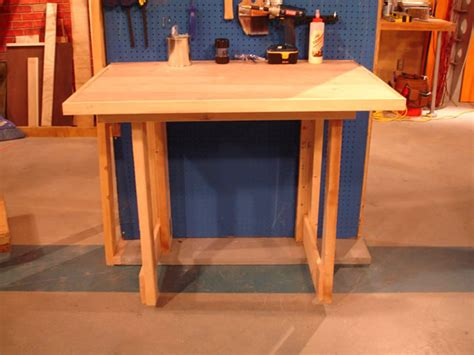 fold down bench how to make a fold down workbench how tos diy