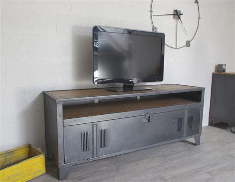 meuble tv industriel vestiaire avec authentique vestaire