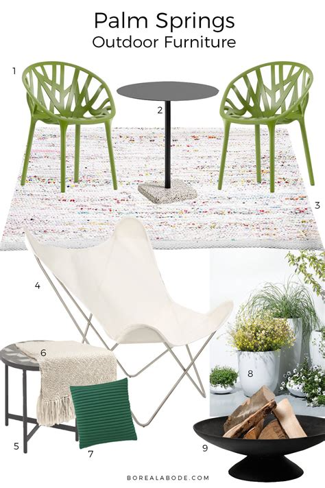 palm springs inspired outdoor furniture for small spaces