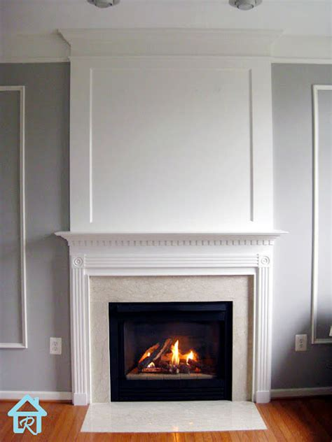 Fireplace Mouldings by Remodelando La Casa Adding Crown Molding To The Top Of