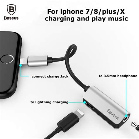 baseus audio cable adapter  iphone