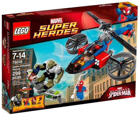 Lego 76016 Spider Helicopter Rescue Lego Marvel 2014 Spider Helicopter Rescue 76016 Photos