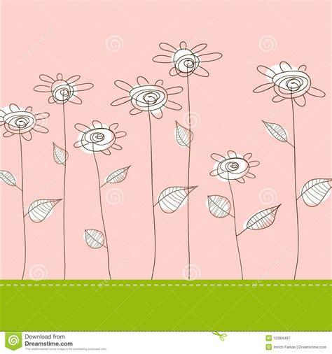 i fiori semplici illustrazione con i fiori semplici fotografia stock