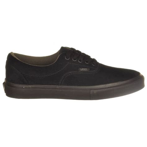 vans era pro black black mens skateboard shoes from