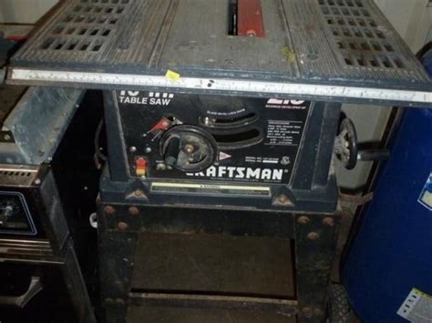 craftsman 137 table saw craftsman 10 quot table saw on stand 2 5hp model 137 221940