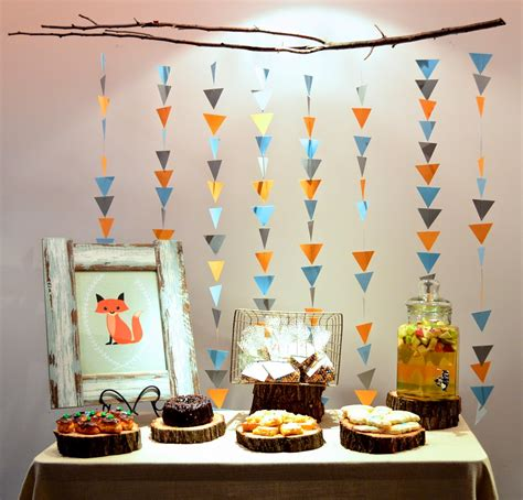 theme decoration adorn event styling fox themed baby shower