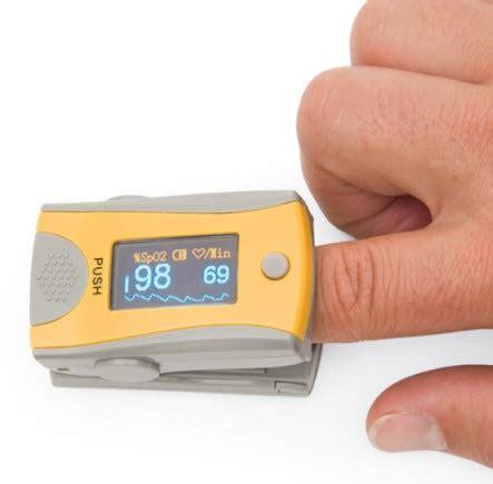 pulse oximeter   blood oxygen level   finger pulse