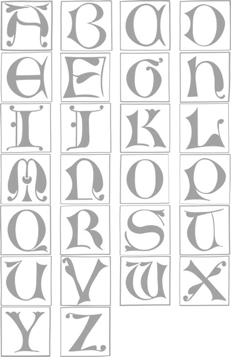 illuminated alphabet templates illuminated letters alphabet template search results