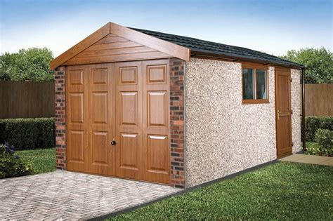 compton detached sectional garage apex 20 roof concrete garages free quote lidget compton