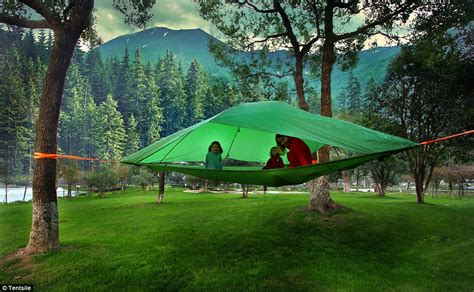 hanging tent tree tents end of confrontations with creepy crawlies on the ground daily mail
