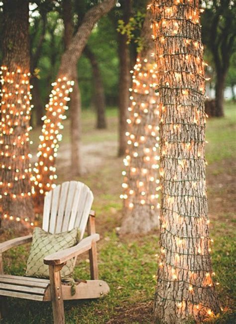how to string lights on tree branches diy lighting fixture designs for the backyard