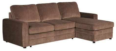 Sectional Sofa With Pull Out Sleeper Gus Brown Microfiber Pull Out Sleeper Sectional Sofa Ebay