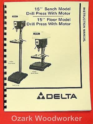 Powermatic 1150 15 Quot Var Drill Press Parts Manual 0512