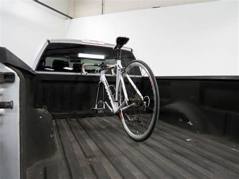 truck bed bike carrier rockymounts loball locking truck bed bike carrier fork