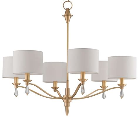 Brushed Gold Chandelier Modern Classic Brushed Gold Finial 6 Light Chandelier Kathy Kuo Home