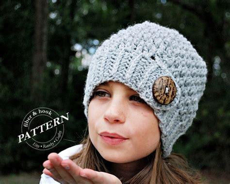 Moultrie Upholstery Crochet Pattern Crochet Button Tab Beanie Pattern