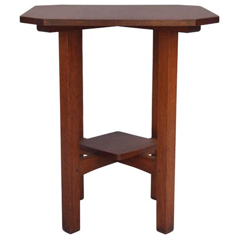 L Tables For Sale by 1910 L And J G Stickley Clip Corner Table For Sale At