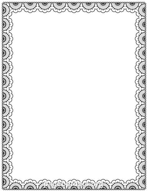 lace border clip art page border  vector graphics