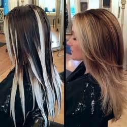 Stylish hair color for long hair via