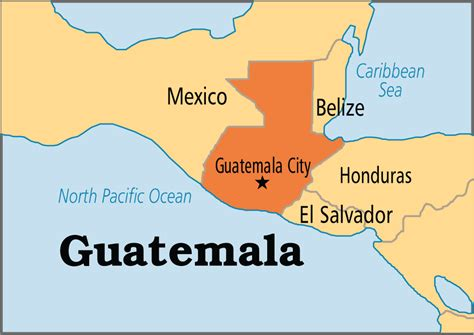 where is guatemala on the map guatemala operation world