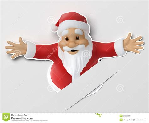 How To Make A 3d Santa Out Of Paper - santa cut out of paper royalty free stock images image