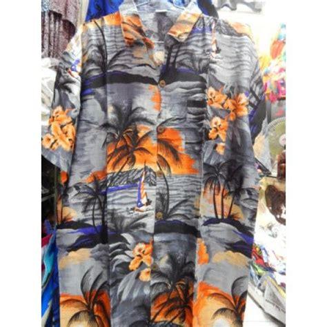 Rompi Sablon Bunga pakaian bali motif pantai warna abu abu tinggi 77cm