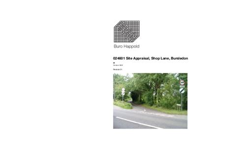 buro happold bursledon buro happold site appraisal report