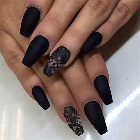 Matte Coffin Nail Designs