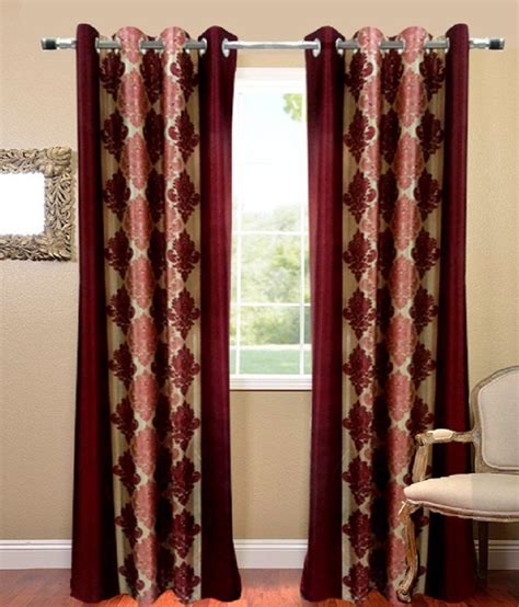 set of curtains homefab india set of 2 long door eyelet curtains buy