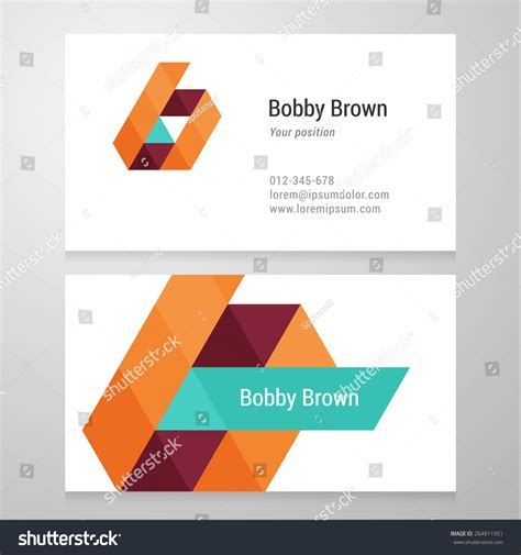 abc card template editable modern letter b business card template stock vector