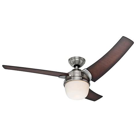made in usa ceiling fan eurus brushed nickel fluorescent one light 54 inch ceiling