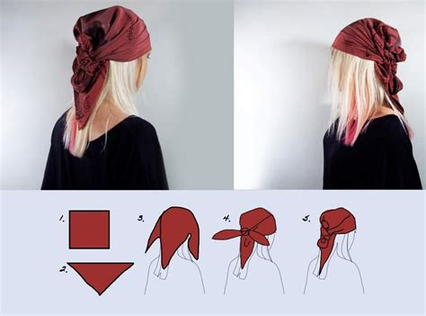 pattern for a pirate bandana fashion head scarf style 6 easy ways pirate hair style